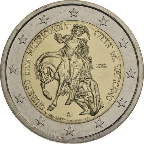 Rückseite :Vatikan : 2 Euro Heiliges Jahr der Barmherzigkeit  2016 Stgl.