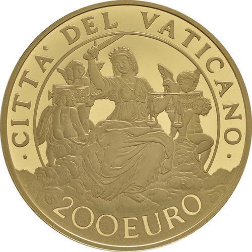 Rückseite:Vatikan : 200 Euro Die Kardinaltugenden - die Gerechtigkeit  2016 PP