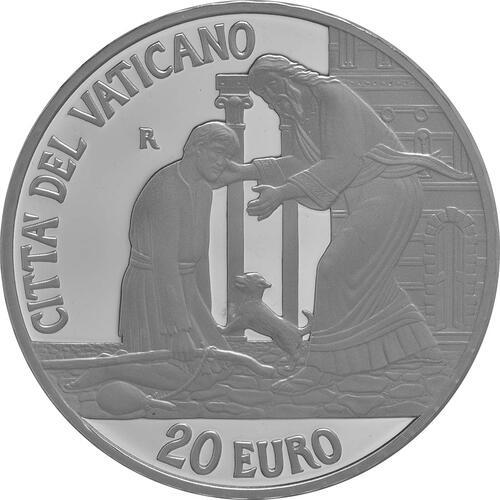 Rückseite:Vatikan : 23,88 Euro KMS Vatikan mit 20 Euro Gedenkmünze  2016 PP