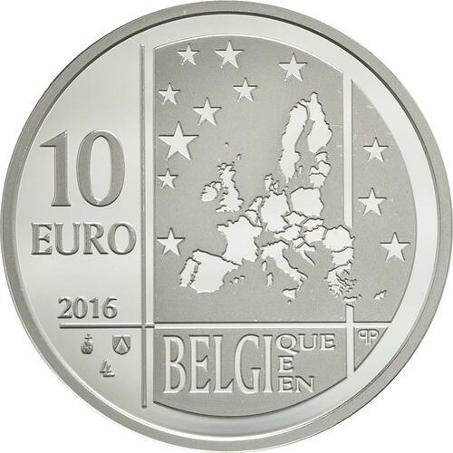 Rückseite:Belgien : 10 Euro Albert Einstein  2016 PP