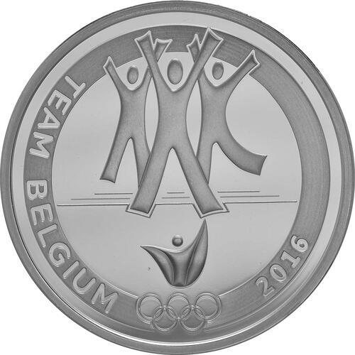 Vorderseite:Belgien : 10 Euro Das belgische Team  2016 PP