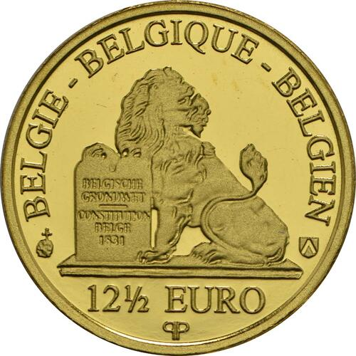 Rückseite:Belgien : 12,5 Euro Elisabeth - Herzogin in Bayern  2016 PP