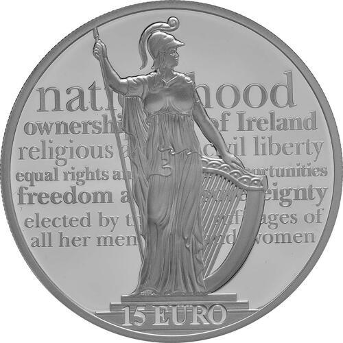 Vorderseite:Irland : 15 Euro 100 Jahre Osteraufstand 1916  2016 PP