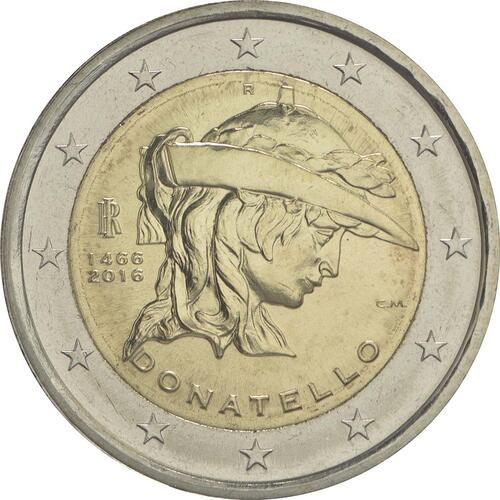 Rückseite :Italien : 2 Euro Donatello Bardi  2016 bfr