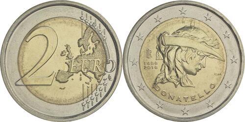 Lieferumfang :Italien : 2 Euro Donatello Bardi  2016 bfr