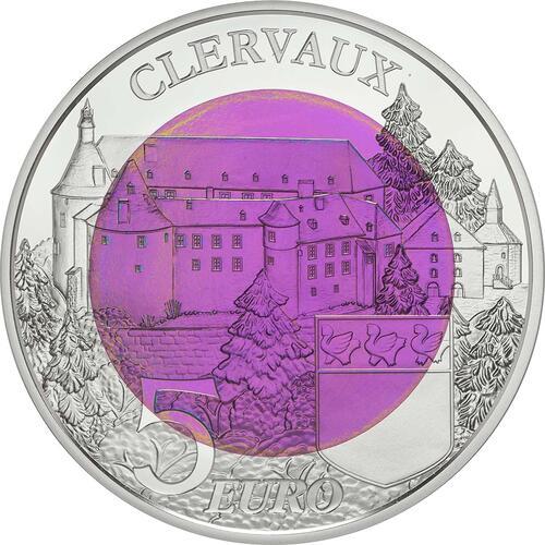 Rückseite:Luxemburg : 5 Euro Burg Clervaux  2016 PP