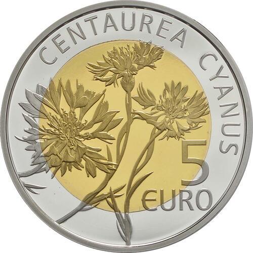 Rückseite:Luxemburg : 5 Euro Kornblume  2016 PP