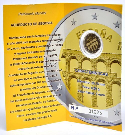 Lieferumfang :Spanien : 2 Euro Altstadt und Aquädukt von Segovia  2016 PP