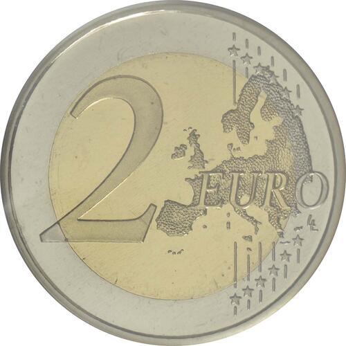 Vorderseite:Spanien : 2 Euro Altstadt und Aquädukt von Segovia  2016 PP