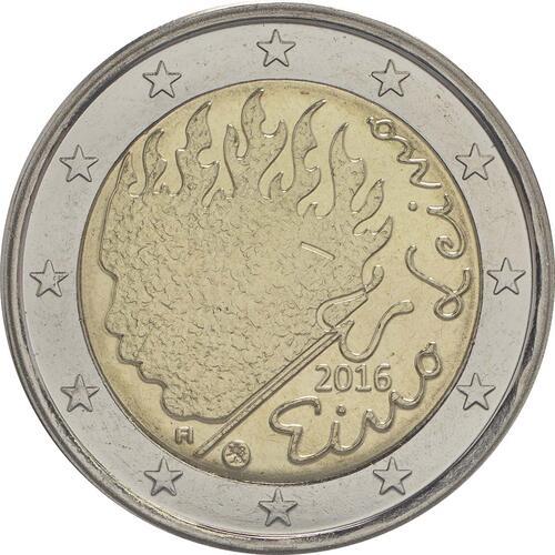 Rückseite :Finnland : 2 Euro Leino  2016 bfr