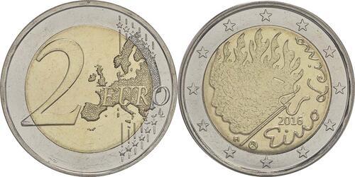 Lieferumfang :Finnland : 2 Euro Leino  2016 bfr