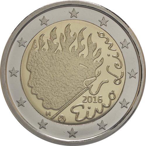 Rückseite :Finnland : 2 Euro Leino  2016 PP