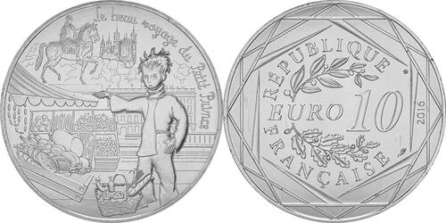 Lieferumfang:Frankreich : 10 Euro 08/24 Der kleine Prinz und die Gastronomie  2016 bfr