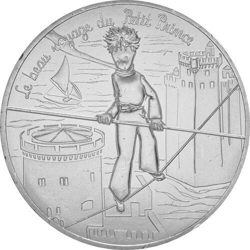 Vorderseite:Frankreich : 10 Euro 12/24 Der kleine Prinz auf dem Seil im Zirkus  2016 bfr