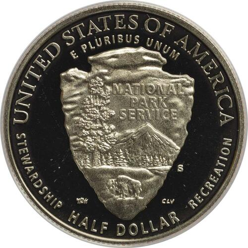 Rückseite:USA : 1/2 Dollar 100 Jahre National Park Service  2016 PP