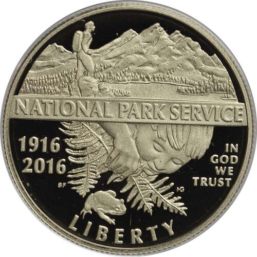 Vorderseite :USA : 1/2 Dollar 100 Jahre National Park Service  2016 PP