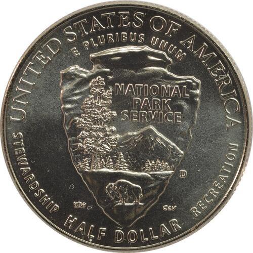 Rückseite:USA : 1/2 Dollar 100 Jahre National Park Service  2016 Stgl.