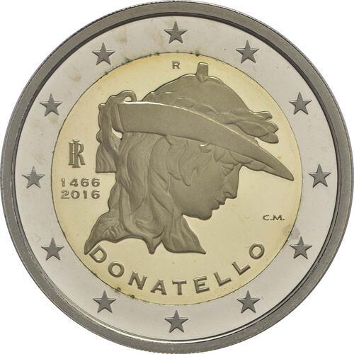 Rückseite :Italien : 2 Euro Donatello Bardi  2016 PP