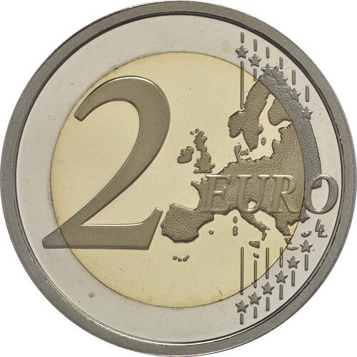 Vorderseite :Italien : 2 Euro Donatello Bardi  2016 PP