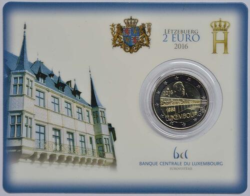 Lieferumfang:Luxemburg : 2 Euro Großherzogin Charlotte-Brücke  2016 Stgl.