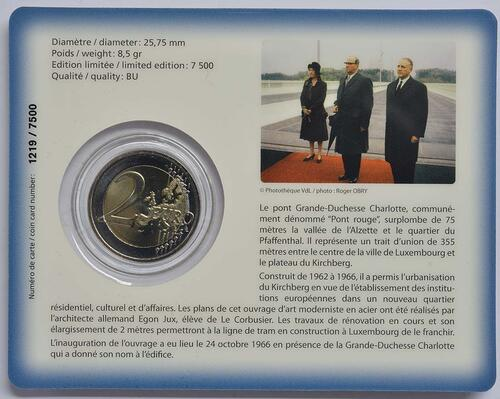 Zertifikat:Luxemburg : 2 Euro Großherzogin Charlotte-Brücke  2016 Stgl.