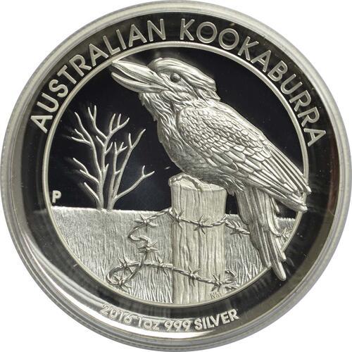 australien 1 dollar kookaburra 1 oz highrelief 2016 silber pp euro. Black Bedroom Furniture Sets. Home Design Ideas