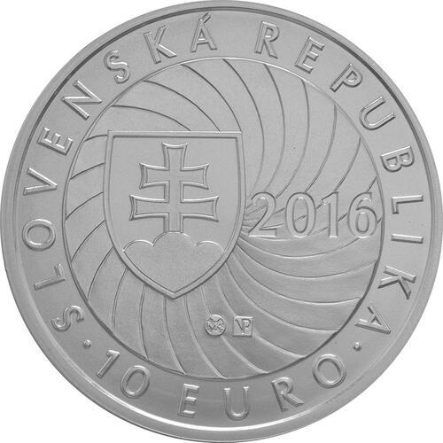 Rückseite:Slowakei : 10 Euro EU-Präsidentschaft  2016 Stgl.