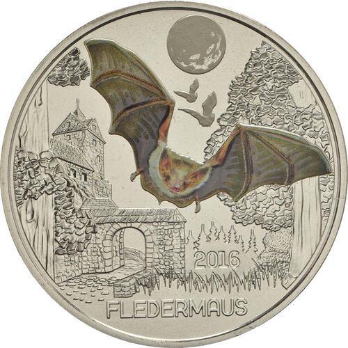 Vorderseite:Österreich : 3 Euro Fledermaus 1/12  2016 Stgl.