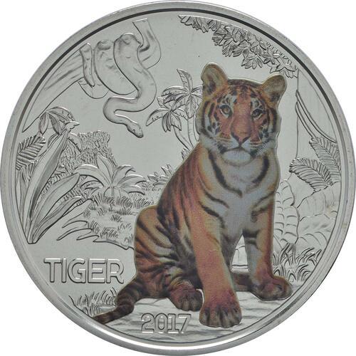 Vorderseite:Österreich : 3 Euro Tiger 2/12  2017 Stgl.