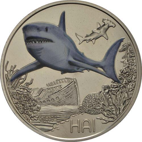 Vorderseite:Österreich : 3 Euro Hai 7/12  2018 Stgl.