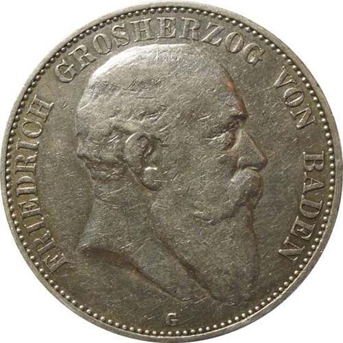 Vorderseite:Deutschland : 5 Mark Friedrich I  1904 ss.