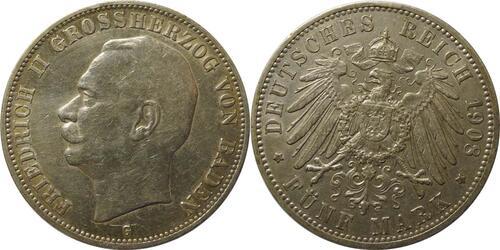 Lieferumfang :Deutschland : 5 Mark Friedrich II patina 1908 ss/vz.
