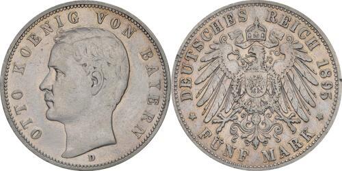 Lieferumfang:Deutschland : 5 Mark Otto winz. Rs. 1895 f.ss