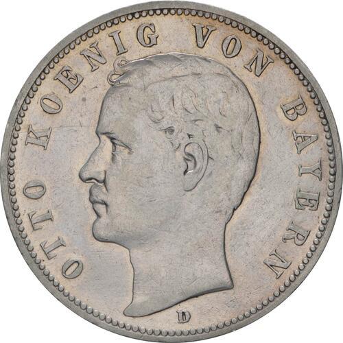 Vorderseite:Deutschland : 5 Mark Otto winz. Rs. 1895 f.ss