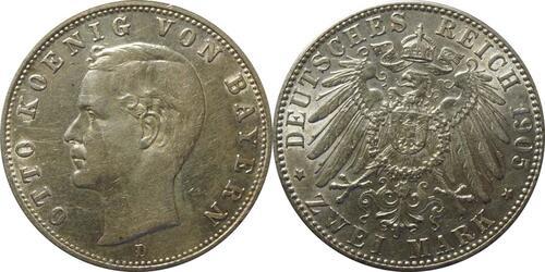 Lieferumfang:Deutschland : 2 Mark Otto  1905 ss.