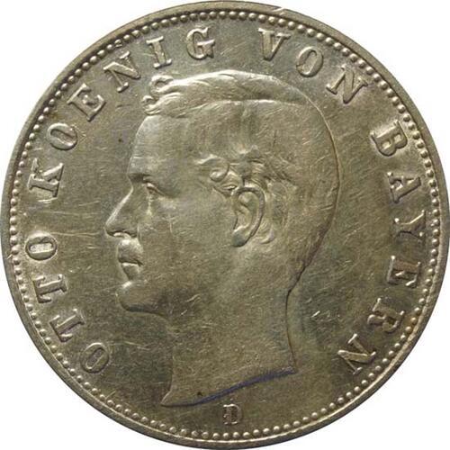 Vorderseite:Deutschland : 2 Mark Otto  1905 ss.