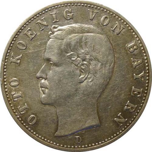 Vorderseite:Deutschland : 2 Mark Otto  1907 ss.