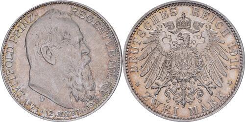 Lieferumfang :Deutschland : 2 Mark Luitpold  1911 vz.