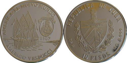 Lieferumfang :Kuba : 10 Pesos Dauphine - Vespucci  1996 PP