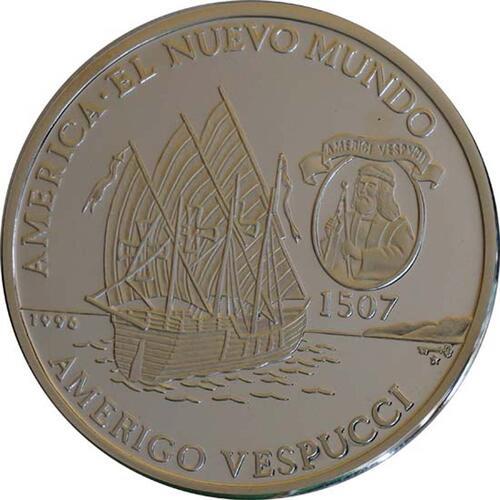 Vorderseite :Kuba : 10 Pesos Dauphine - Vespucci  1996 PP