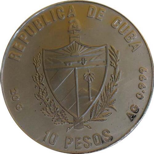 Rückseite:Kuba : 10 Pesos Santa Maria  1990 PP