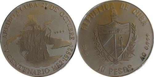 Lieferumfang:Kuba : 10 Pesos Santa Maria  1990 PP