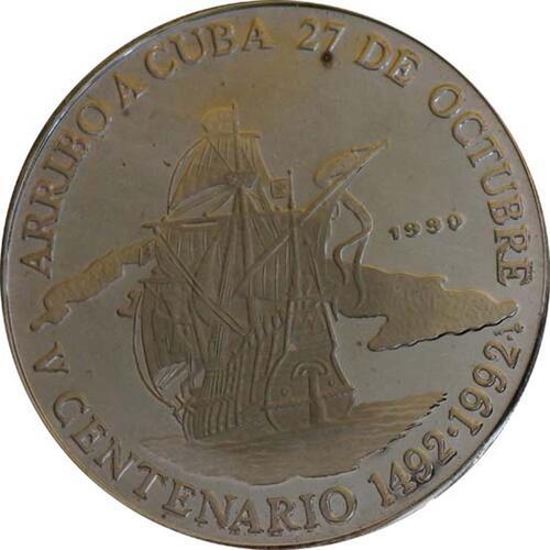 Vorderseite:Kuba : 10 Pesos Santa Maria  1990 PP