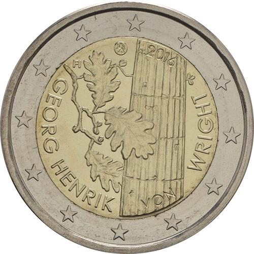 Rückseite :Finnland : 2 Euro Georg Henrik von Wright  2016 bfr