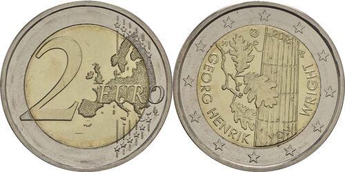 Lieferumfang :Finnland : 2 Euro Georg Henrik von Wright  2016 bfr