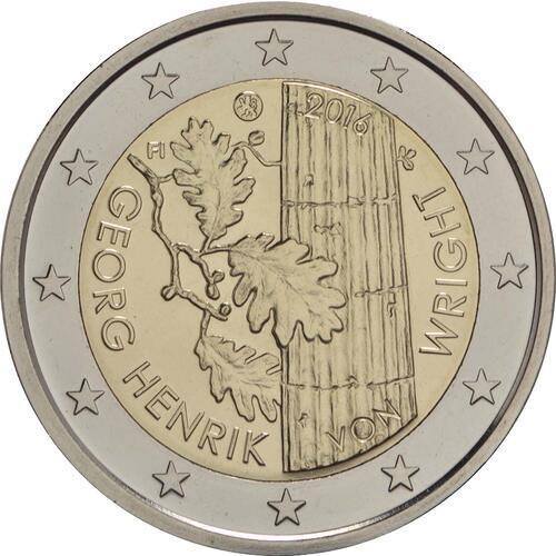 Rückseite :Finnland : 2 Euro Georg Henrik von Wright  2016 PP