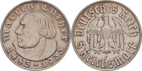 Lieferumfang:Deutschland : 5 Reichsmark Luther patina 1933 ss/vz.