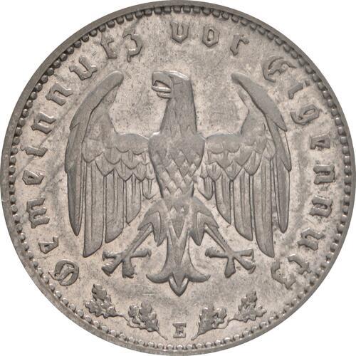 Rückseite:Deutschland : 1 Reichsmark Kursmünze  1933 vz/Stgl.