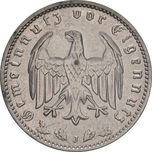 Rückseite:Deutschland : 1 Reichsmark Kursmünze  1939 vz/Stgl.