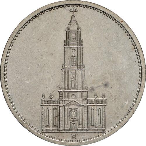 Vorderseite:Deutschland : 5 Reichsmark Kirche ohne Datum  1935 vz/Stgl.